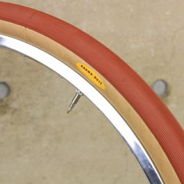 Grand Bois Hetre Folding tyre 650x42B Red with Tan Wall