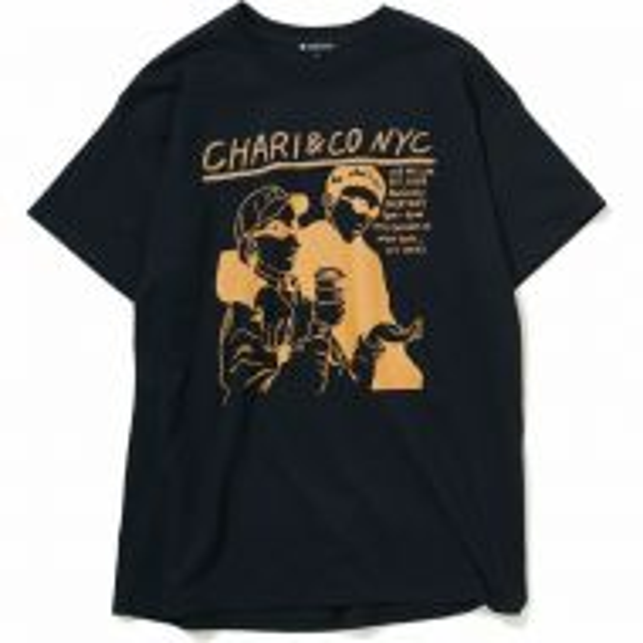 *CHARI&CO* noise punk tee (black)