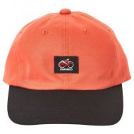 *CHARI&CO* cycle script polo cap (orange/black)