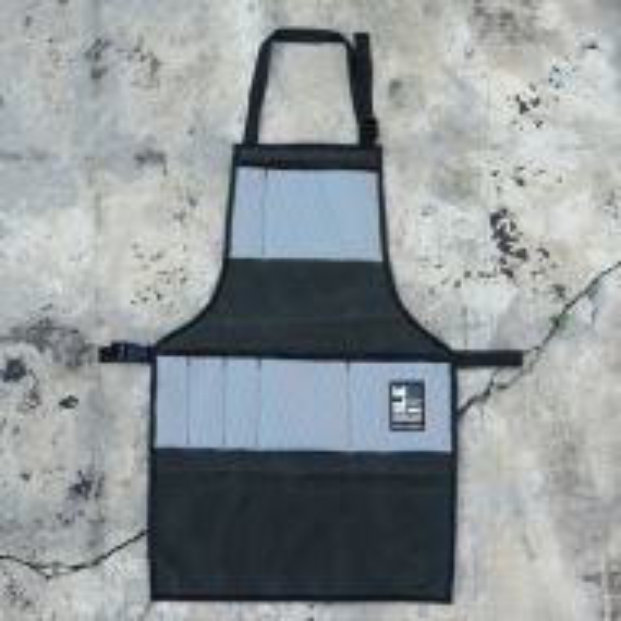 *ILE* work apron (waxed forest/grey)