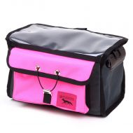*SWIFT INDUSTRIES* paloma handlebar bag (steel/hot pink)