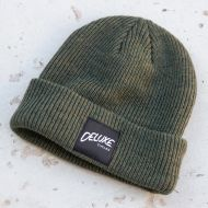 *DELUXE CYCLES* merino wool beanie (olive)