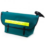 *BLUE LUG* the messenger bag (green/reflector)