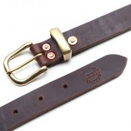 *REW10 WORKS* chromexel leathers riveted belt (brown)