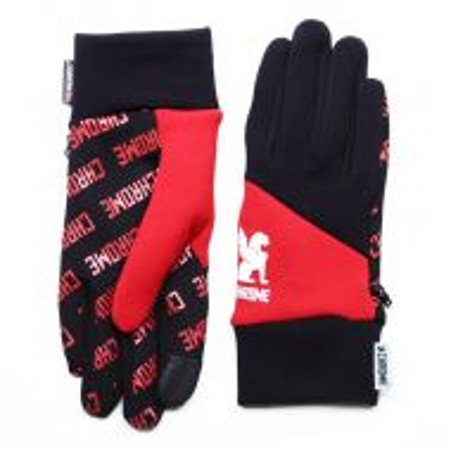 *CHROME* power strech glove (red)