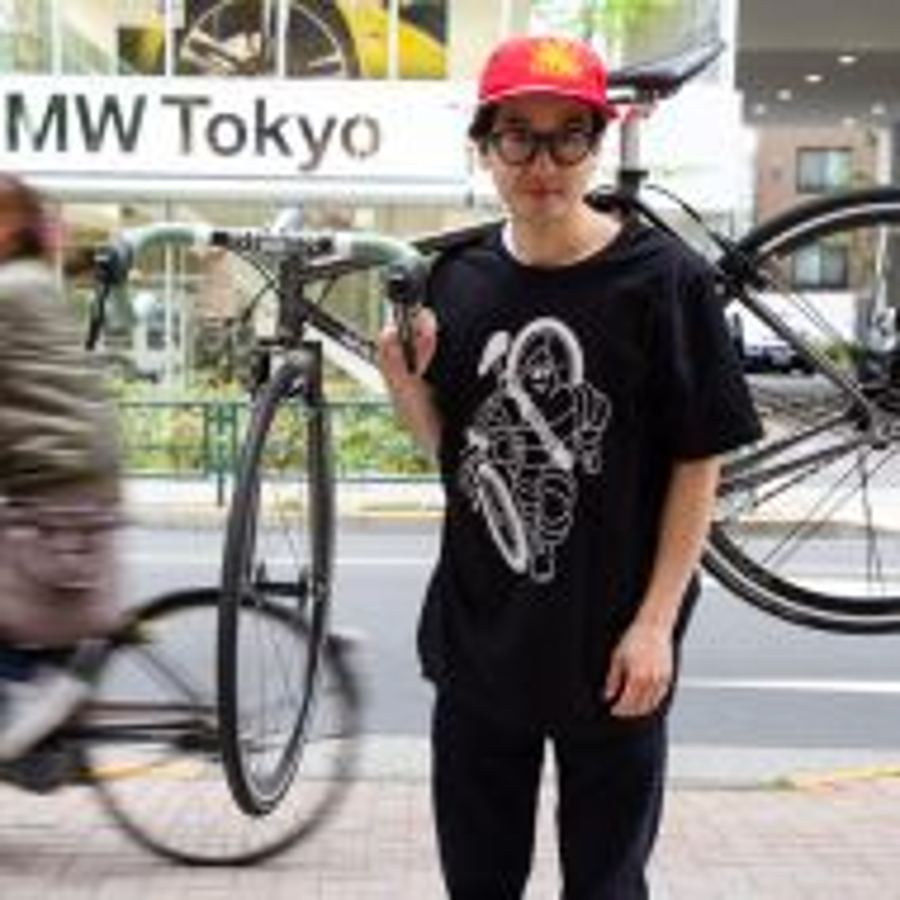 *DELUXE CYCLES* bibendum t-shirt (black)