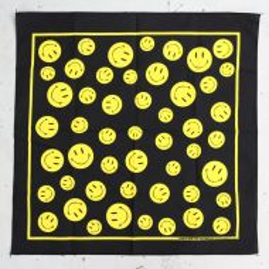 *BL SELECT* bandana (black smiley)