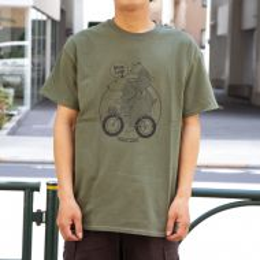 *BLUE LUG* bear family t-shirt (green)