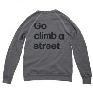 *MASH* go climb crewneck sweat (gray)