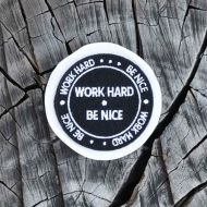 *RIVENDELL* Work Hard Be Nice Patch (black)