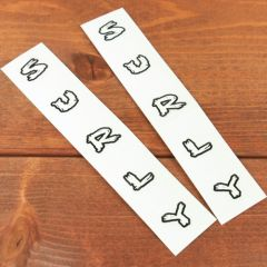 *SURLY* fork decals (white)