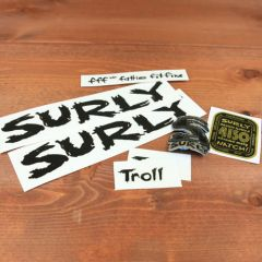 *SURLY* troll frame decal set (black)