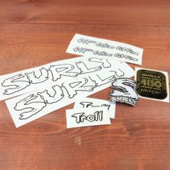 *SURLY* troll frame decal set (white)