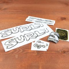 *SURLY* ogre frame decal set (white)