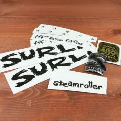 *SURLY* steamroller frame decal set (black)