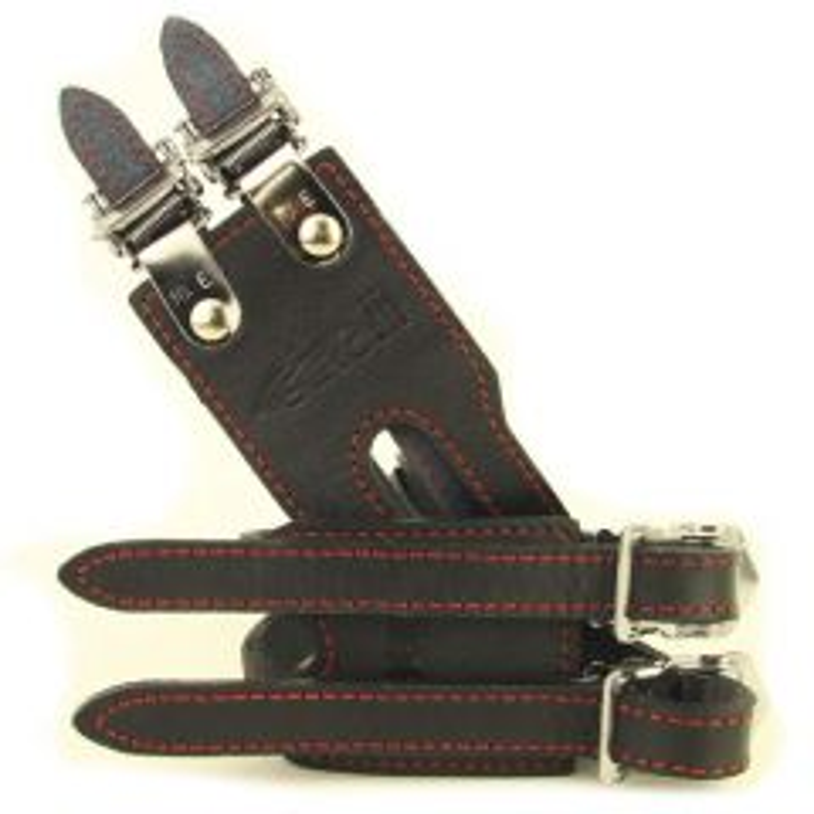 *CINELLI* double leather toe strap (black)