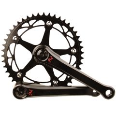 *PHILWOOD* track crank set (black)