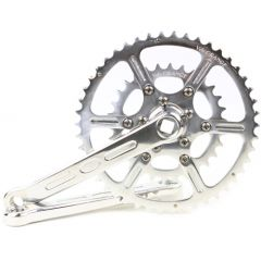 *VELO ORANGE* grand cru 50.4bcd double crankset (silver)