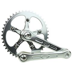 *VELO ORANGE* grand cru fluted single crankset (silver)