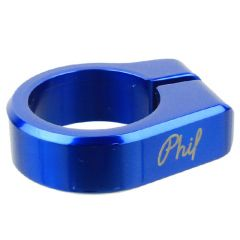 *PHILWOOD* seat post collar (blue)