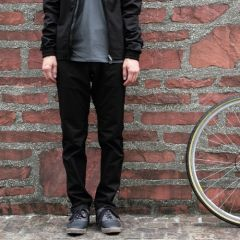 *SWRVE* midweight wwr slim trousers (black)