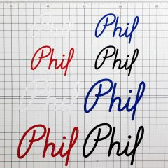 *PHILWOOD* logo decal 3p set
