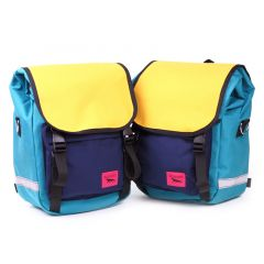 *SWIFT INDUSTRIES* mini roll top (teal/saffron/navy)