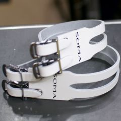 *SOMA* leather double strap (white)