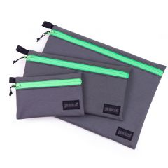 *BLUE LUG* dry pouch (charcoal/green)