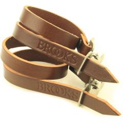 *BROOKS* leather toe strap (brown)