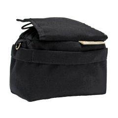 *OUTER SHELL ADVENTURE* drawcord handlebar bag (blacked out)