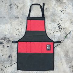 *ILE* work apron (waxed forest/red)