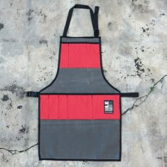 *ILE* work apron (waxed grey/red)