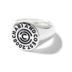 *CHARI&CO* circle logo ring