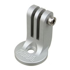 *PAUL* stem cap Go Pro camera mount (silver)