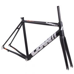 *LOW BICYCLES* MKi road frame&fork set (black/raw/56)