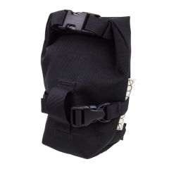 *OUTER SHELL ADVENTURE* rolltop saddlebag (blacked out)