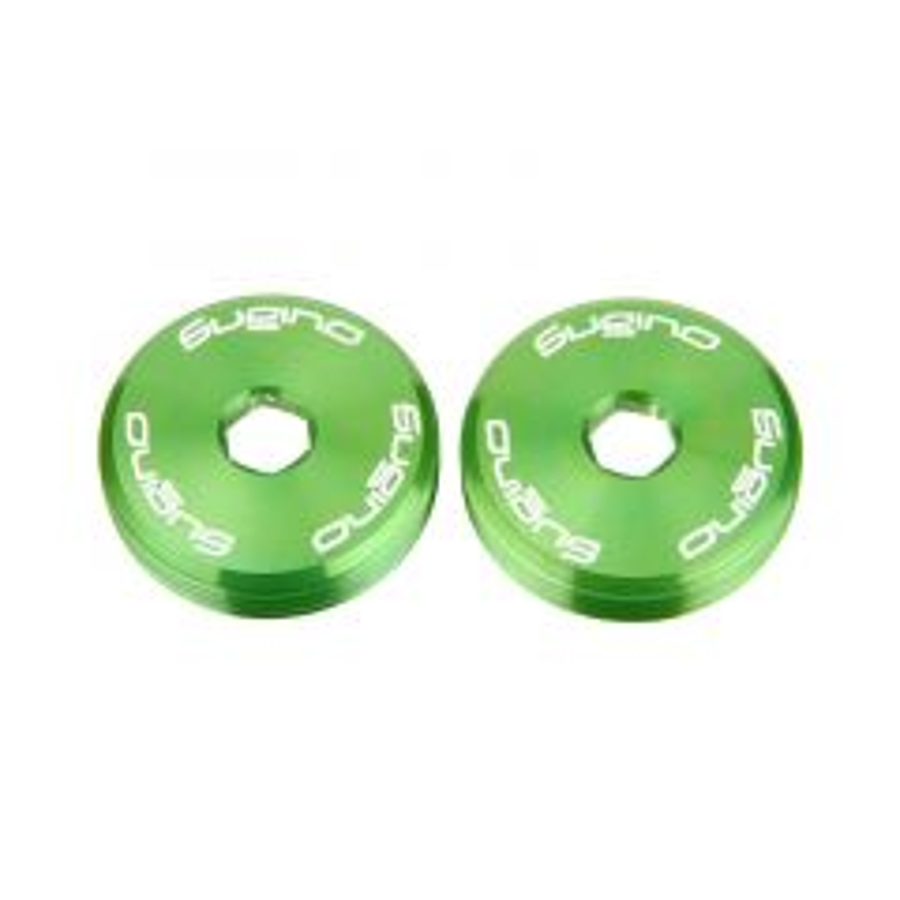 *SUGINO* crank cap (lime green)