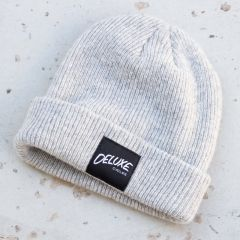 *DELUXE CYCLES* merino wool beanie (gray)