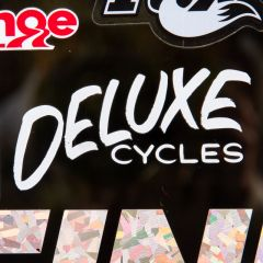 *DELUXE CYCLES* casual hand decal (white)