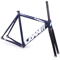 *LOW BICYCLES* pursuit frame&fork set (navy/white/49)