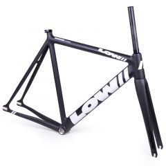 *LOW BICYCLES* pursuit frame&fork set (black/white/52)