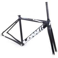 *LOW BICYCLES* MKi road frame&fork set (black/white/49)