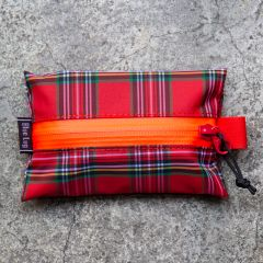 *BLUE LUG* tissue pouch (red check)