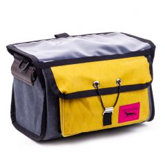*SWIFT INDUSTRIES* paloma handlebar bag (wax grey/wax gold)