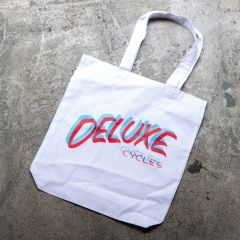 *DELUXE CYCLES* 3D tote (white)