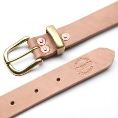 *REW10 WORKS* leathers riveted belt (natural)
