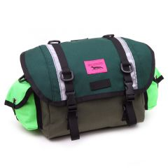 *SWIFT INDUSTRIES* zeitgeist saddle bag (S/olive/cascade green/neon green)