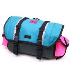 *SWIFT INDUSTRIES* zeitgeist saddle bag (L/steel/teal/hot pink)
