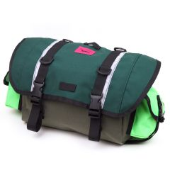 *SWIFT INDUSTRIES* zeitgeist saddle bag (L/olive/cascade green/neon green)